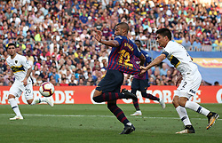 August 15, 2018 - Barcelona, Spain - Paolo Goltz and Rafinha during the match between FC Barcelona and C.A. Boca Juniors, corresponding to the Joan Gamper trophy, played at the Camp Nou, on 15th August, 2018, in Barcelona, Spain. (Credit Image: © Joan Valls/NurPhoto via ZUMA Press)