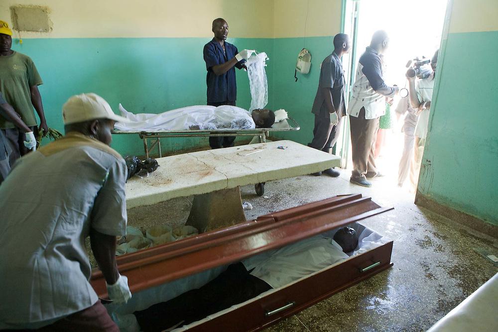 Bodies of the victims of post election violence at the Nyanza Provincial General Hospital, Mortuary, Kisumu, Kenya.