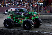 MONSTER TRUCK_Grave Digger competing at the Monster Truck Challenge at the Orange County (NY) Fair Speedway.
