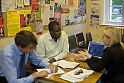 David Lammy, Member of Parliament for Tottenham and Minister for Skills, listens to constituents at his regular surgery at Tottenham Town Hall, London