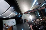 Belo Horizonte_MG, Brasil...Eleicoes 2008. O candidato a prefeitura de Belo Horizonte pela Coligacao Alianca por BH Marcio Lacerda (PSB), participa de debate com o candidato Leonardo Quintao (PMDB).. .Elections 2008. The candidate Marcio Lacerda (PSB), participates in discussion with the candidate Leonardo Quintao (PMDB)...Foto: LEO DRUMOND / NITRO