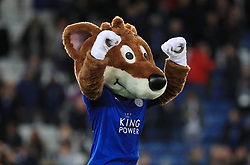 "Leicester Mascot Filbert Fox during the Carabao Cup, Fourth Round match at the King Power Stadium, Leicester. PRESS ASSOCIATION Photo. Picture date: Tuesday October 24, 2017. See PA story SOCCER Leicester. Photo credit should read: Mike Egerton/PA Wire. RESTRICTIONS: EDITORIAL USE ONLY No use with unauthorised audio, video, data, fixture lists, club/league logos or ""live"" services. Online in-match use limited to 75 images, no video emulation. No use in betting, games or single club/league/player publications."
