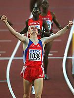 Friidrett. VM 2001 Edmonton. BUCHER, Andre        Schweiz<br />Leichtathletik  WM 2001    <br />800m Finale MäŠnner Sieger