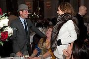 JEANNE MARINE; STEFAN BARTLETT,, Liberatum 10th Anniversary dinner in honour of Sir Peter Blake. Hosted by Pable Ganguli and Ella Krasner. The Corinthia Hotel, Whitehall. London. 23 November 2011.