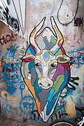 Graffiti on a wall in Florentine, Tel Aviv, Israel