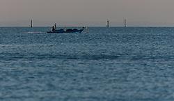 THEMENBILD - ein Fischerboot vor der Küste, aufgenommen am 16. Juni 2018, Lignano Sabbiadoro, Österreich // a fishing boat off the coast on 2018/06/16, Lignano Sabbiadoro, Austria. EXPA Pictures © 2018, PhotoCredit: EXPA/ Stefanie Oberhauser