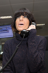 © Licensed to London News Pictures. 11/09/2018. London, UK.  Claudia Winkleman at the 14th Annual BGC Charity Day held on the trading floor of BGC Partners in Canary Wharf, to raise money for charitable causes in commemoration of BGC's 658 colleagues and the 61 Eurobrokers employees lost on 9/11.  Photo credit: Vickie Flores/LNP