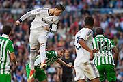 Cristiano Ronaldo headshot directly to goal