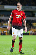 Manchester United Midfielder Nemanja Matic during the The FA Cup match between Wolverhampton Wanderers and Manchester United at Molineux, Wolverhampton, England on 16 March 2019.