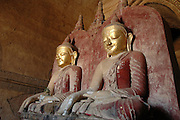 Myanmar Bagan Ancient Buddha statue in the temple area