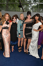 Left to right, MYLEENE KLASS, OPHELIA LOVIBOND, LAURA WHITMORE, GIZZI ERSKINE and JAMEELA JAMIL at the Glamour Women of The Year Awards in Association with Next held in Berkeley Square Gardens, Berkeley Square, London on 3rd June 2014.