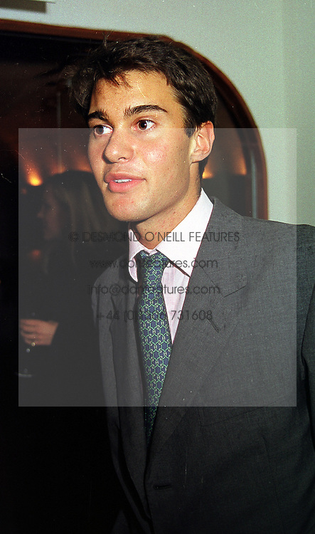 MR WILLIAM VAN CUTSEM, a friend of HRH Prince William, at a party in London on 14th September 1999.MWI 77