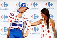 Julian Alaphilippe (FRA - QuickStep - Floors) podium during the 105th Tour de France 2018, Stage 13, Bourg d'Oisans - Valence (169,5 km) on July 20th, 2018 - Photo Luca Bettini / BettiniPhoto / ProSportsImages / DPPI