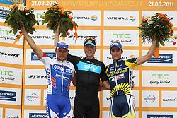 RADSPORT: Cyclassics 2011, UCI World Rennen, Hamburg, 21.08.2011<br /> Gerald CIOLEK (GER), Sieger Boasson HAGEN (NOR), Borut BOZIC (SLO)<br /> Photo by Pixathlon / Sportida Photo Agency
