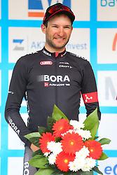 Radsport: 36. Bayern Rundfahrt 2015 / 5. Etappe, Hassfurt - Nuernberg, 17.05.2015<br /> Cycling: 36th Tour of Bavaria 2015 / Stage 5, <br /> Hassfurt - Nuernberg, 17.05.2015<br /> Siegerehrung - podium, # 112 Barta, Jan (CZE, Team BORA-ARGON 18)