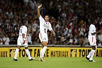 Fotball<br /> Frankrike 2005/2006<br /> Foto: Panoramic/Digitalsport<br /> NORWAY ONLY<br /> <br /> Lyon v Strasbourg 1-0<br /> John Carew<br /> Govou Carew Diarra