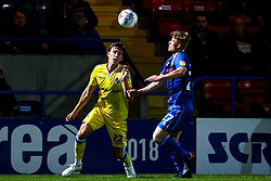 Joe Partington of Bristol Rovers takes on Andy Cannon of Rochdale - Mandatory by-line: Robbie Stephenson/JMP - 02/10/2018 - FOOTBALL - Crown Oil Arena - Rochdale, England - Rochdale v Bristol Rovers - Sky Bet League One
