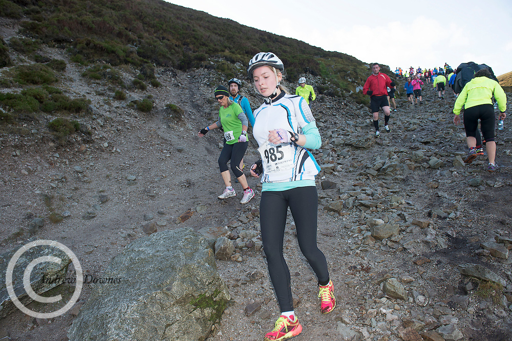 08/11/2014 repro free  Laura Friel  from Mayo on Croagh Patrick  in the Sea 2 Summit adventure race in Westport Co. Mayo. Photo:Andrew Downes