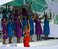Photo: Glyn Thomas.<br />Italy v France. FIFA World Cup 2006 Final. 09/07/2006.<br /> Shakira performs as part of the closing ceremony.