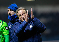Football - 2018 / 2019 FA Cup - Third Round: Gillingham vs. Cardiff City<br /> <br /> A stern looking Neil Warnock, Manager of Cardiff City, reacts to the Cardiff fans as his team lose at Priestfield Stadium.<br /> <br /> COLORSPORT/DANIEL BEARHAM