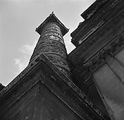 Architectural details of St. Charles Church, Vienna, Austria, 1938