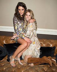 Left to right, ROSANNA FALCONER and GEORGIE MACINTYRE at the Tatler Little Black Book Party at Home House Member's Club, Portman Square, London supported by CARAT on 11th November 2015.