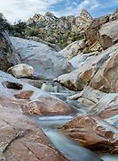 Tiered cascades along Romero Creek at Romero Pools, Santa Catalina Mountains, Tucson