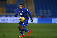 Nathaniel Mendez-Laing of Cardiff city in action .EFL Skybet championship match, Cardiff city v Preston North End at the Cardiff city stadium in Cardiff, South Wales on Friday 29th December 2017.<br /> pic by Andrew Orchard, Andrew Orchard sports photography.