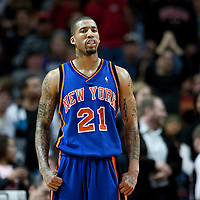 17 December 2009: New York Knicks Wilson Chandler is seen during the Chicago Bulls 98-89 victory over the New York Knicks at the United Center, in Chicago, Illinois, USA.