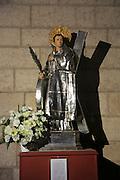 Statue of Saint Vincent, Iglesia de Santa Catalina Mártir, city of Valencia, Spain