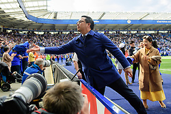 May 12, 2019 - Leicester, England, United Kingdom - Aiyawatt Srivaddhanaprabha of Leicester City hands out Leicester City shirts during the Premier League match between Leicester City and Chelsea at the King Power Stadium, Leicester on Sunday 12th May 2019. (Credit Image: © Mi News/NurPhoto via ZUMA Press)