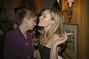 Hermione Eyre., Plum Sykes, book launch party, Annabel's, Berkeley Square, London, W1,10 May 2006.  Matthew Williamson, Catherine Vautrin, Laudomia Pucci host party to celebrate 'The Debutante Divorcee'. ONE TIME USE ONLY - DO NOT ARCHIVE  © Copyright Photograph by Dafydd Jones 66 Stockwell Park Rd. London SW9 0DA Tel 020 7733 0108 www.dafjones.com
