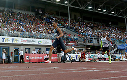 June 28, 2017 - Ostrava, Czech Republic - South African Wayde Van Niekerk (left) competes in the 300 metres during the Golden Spike Ostrava athletic meeting in Ostrava, Czech Republic, on June 28, 2017. (Credit Image: © Petr Sznapka/CTK via ZUMA Press)