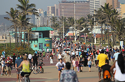 South Africa - Durban - 07 June 2020 - Hundreds of people were in the Durban promenade on Sunday morning either jogging, riding bikes or walking during lockdown level 3<br /> Picture: Doctor Ngcobo/African News Agency(ANA)