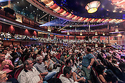 Royal Caribbean, Harmony of the Seas, The Royal Theater, Harmony's main theater and largest entertainment venue, is a state-of-the-art theater designed with the latest technology to deliver an immersive performance environment that rivals land-based theaters. Seating 1,380 guests
