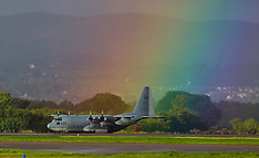 US Navy KC130J arrives to a rainbow welcome | Glasgow Airport | 30 September 2016