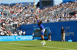 June 19, 2017 - London, United Kingdom - Nick Kyrgios AUS against Donald Young (USA ) during Round One match on the first day of the ATP Aegon Championships at the Queen's Club in west London on June 19, 2017  (Credit Image: © Kieran Galvin/NurPhoto via ZUMA Press)