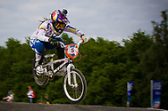 #5 (PAJON Mariana) COL at the UCI BMX Supercross World Cup in Papendal, Netherlands.
