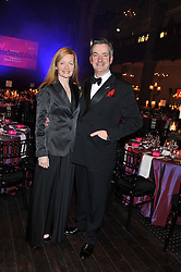ROBERT MARSH Chief Executive of The Eve Appeal and his wife TABITHA at the Red & Black Valentine's Dinner & Dance in aid of The Eve Appeal at One Mayfair, North Audley Street, London W1 on 14th February 2013.