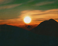 A plane flies lonely during sunset This painting easily brings the atmosphere of the sea to your home. This coastal scene can be printed in different sizes and on different materials. Both on canvas, wood, metal or framed so it certainly fits into your interior. –<br /> -<br /> BUY THIS PRINT AT<br /> <br /> FINE ART AMERICA / PIXELS<br /> ENGLISH<br /> https://janke.pixels.com/featured/airplane-at-sunset-jan-keteleer.html<br /> <br /> <br /> WADM / OH MY PRINTS<br /> DUTCH / FRENCH / GERMAN<br /> https://www.werkaandemuur.nl/nl/shopwerk/Vliegtuig-bij-zonsondergang/778295/132?mediumId=15&size=70x55<br /> –<br /> -
