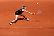 Roland Garros 2011. Paris, France. May 24th 2011..Swedish player Johanna LARSSON against Ana IVANOVIC