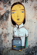 Graffiti and wall art in Cuba. The art work is mostly State sanctioned.