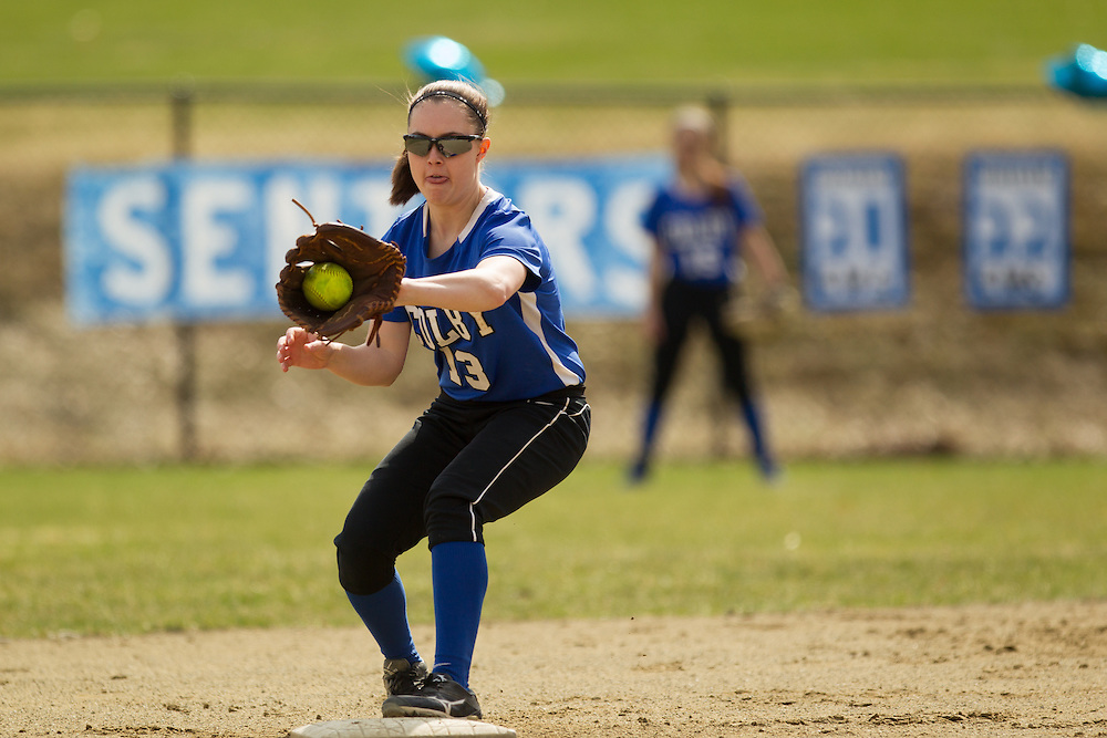 Meaghan Lewia, of Colby College, during a NCAA Division III women's softball game against at Colby College on April 25, 2014 in Waterville, ME. (Dustin Satloff/Colby Athletics)