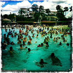 Wet 'n Wild Surf Lagoon. Orlando holiday 2012. Photo taken with the Hipstamatic photo application on Apple iPhone 4.