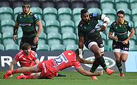 Rugby Union - 2019 / 2020 Gallagher Premiership - Northampton Saints v Sale Sharks - Franklin Gardens<br /> <br /> Northampton Saints' Taqele Naiyaravoro evades the tackle of Sale Sharks' Sam Hill.<br /> <br /> COLORSPORT/ASHLEY WESTERN