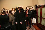 A Time is Place, 3 girls in Niqab's by Rachel Wilberforce,, Paranoia. Curated by Predrag Pajdic. The Freud Museum.  London. 11 January 2007. -DO NOT ARCHIVE-© Copyright Photograph by Dafydd Jones. 248 Clapham Rd. London SW9 0PZ. Tel 0207 820 0771. www.dafjones.com.