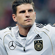 Germany's Mario GOMEZ during their UEFA EURO 2012 Qualifying round Group A matchday 19 soccer match Turkey betwen Germany at TT Arena in Istanbul October 7, 2011. Photo by TURKPIX