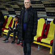 Galatasaray's headcoach Mustafa Denizli during their Turkish Super League soccer match Kayserispor between Galatasaray at the Kadir Has Stadium in Kayseri Turkey on Sunday 27 December 2015. Photo by Kurtulus YILMAZ/TURKPIX