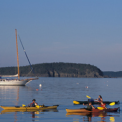 Kayaking in Bar Harbor. The Porcupine Islands.