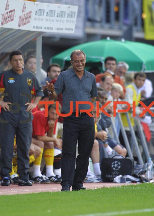Turkish Soccer...<br /> Turkish soccer team Galatasaray between B.Leverkusen Galatasaray Head Coach Fatih Terim.<br /> Photo by Aykut AKICI/TurkSporFoto